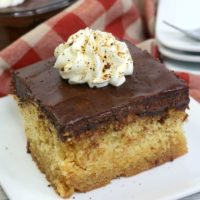 Cuppa Joe Chocolate Coffee Caramel Poke Cake
