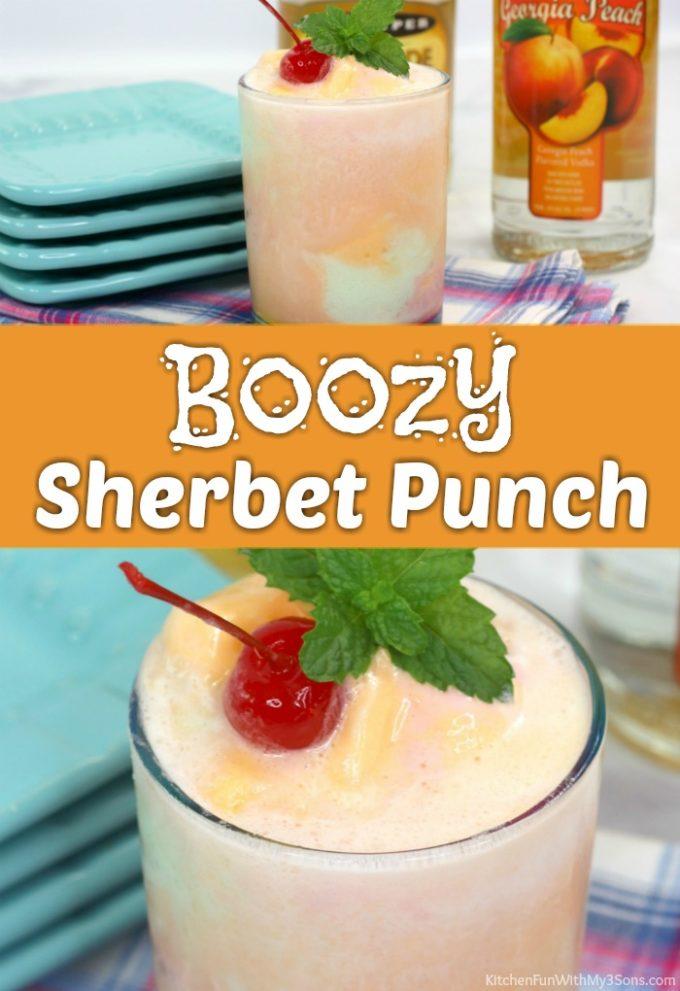 Boozy Sherbet Punch