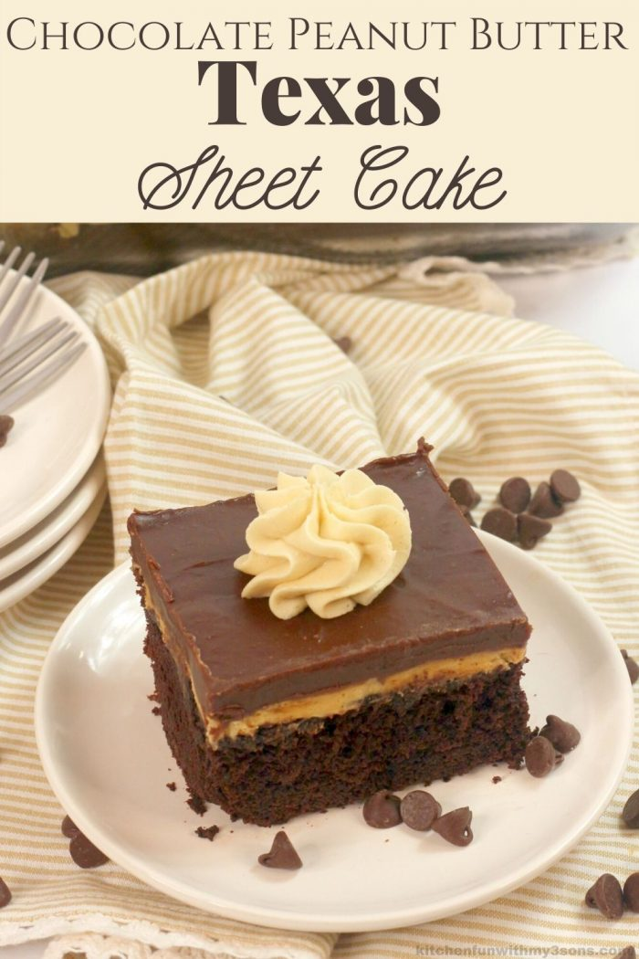 chocolate peanut butter texas sheet cake for pinterest