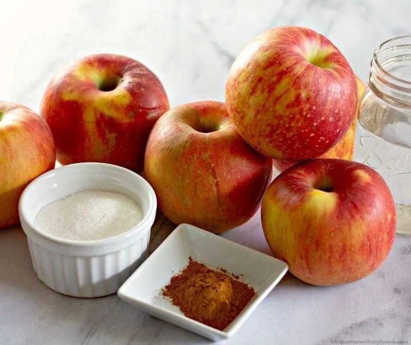 ingredients homemade apple sauce