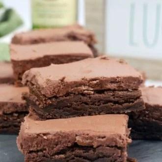 irish Whiskey fudge brownies