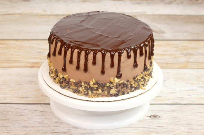 Chocolate Ganache on top of Cake
