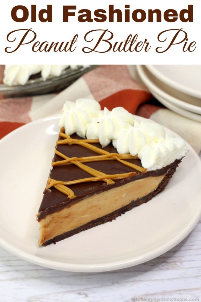 old fashion peanut butter pie for pinterest
