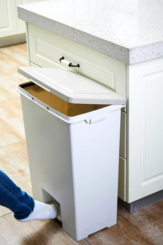 Use Dryer Sheets to prevent Smells from Trash Can