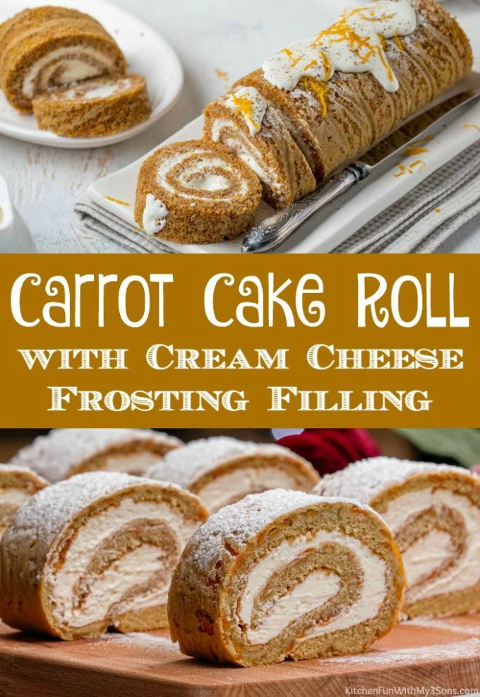 Carrot Cake Roll with Cream Cheese Frosting