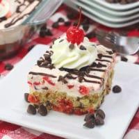 Cherry Garcia Sheet Cake