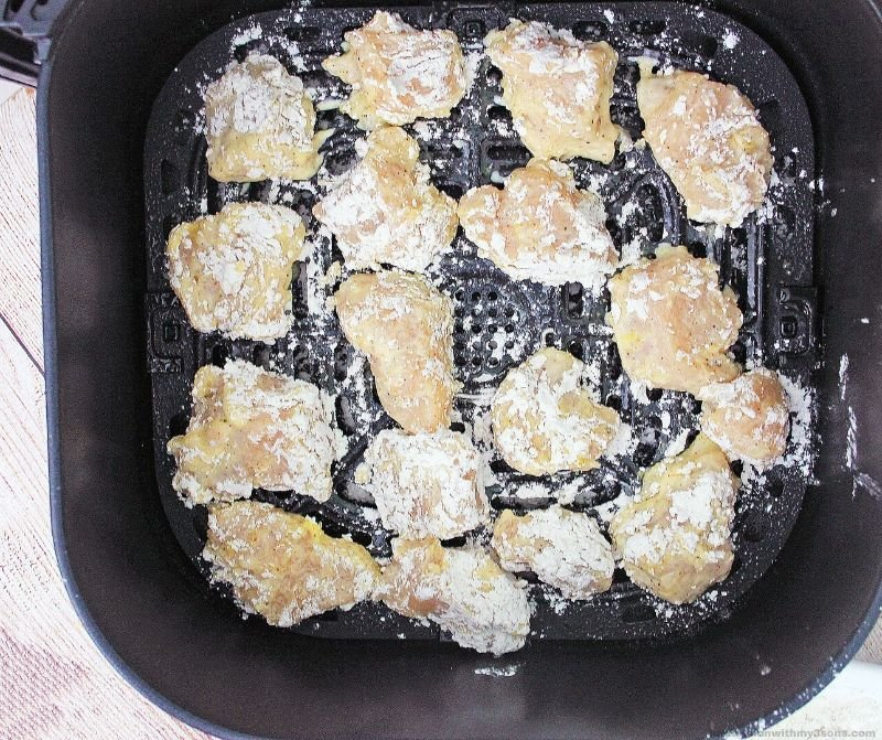chicken pieces in the air fryer