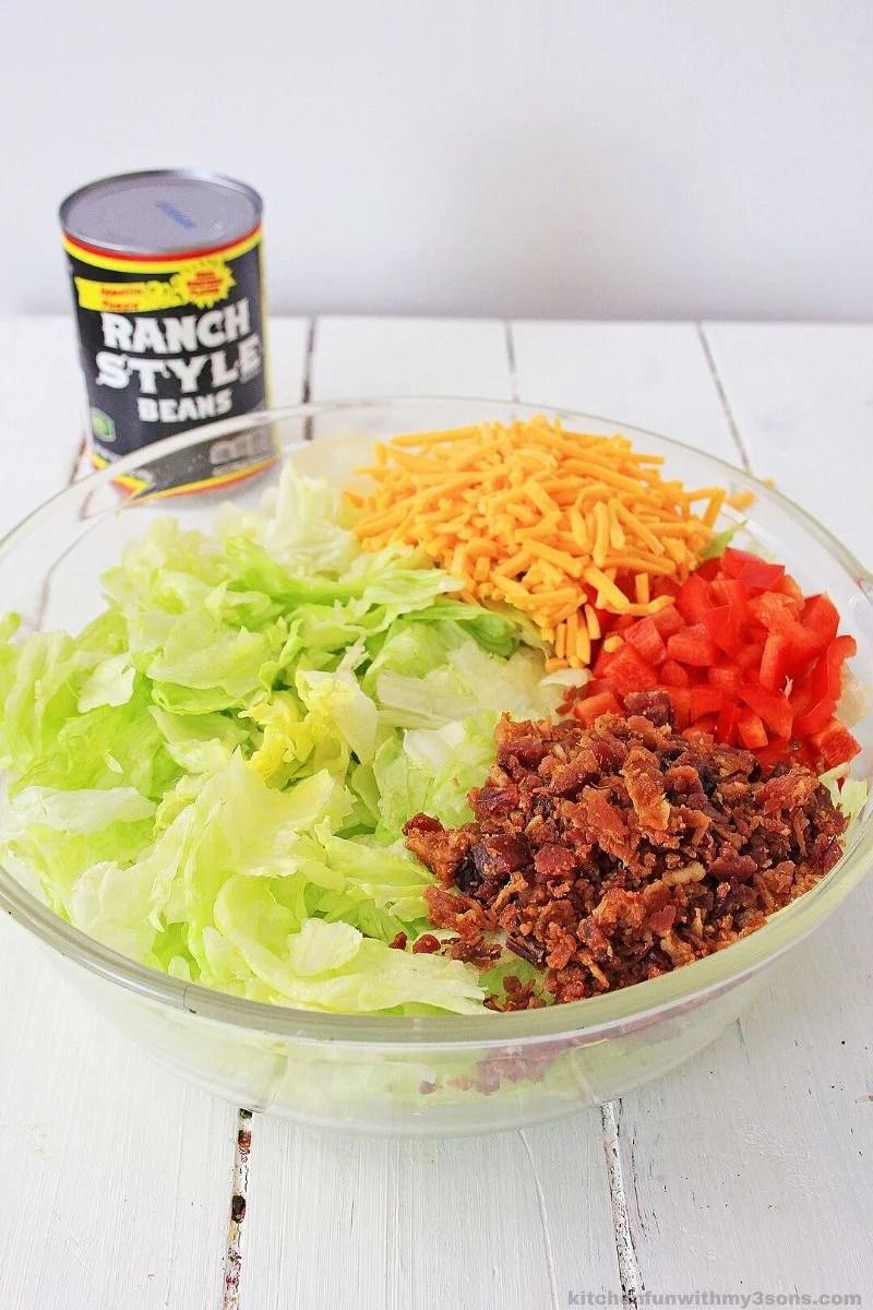 ingredients in taco salad