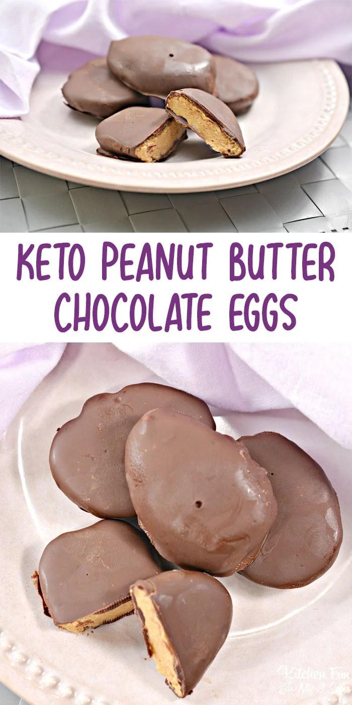 Keto Chocolate Peanut Butter Eggs