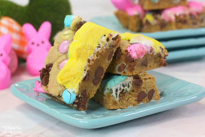 Easter Peeps Cookie Bars