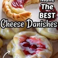 Easy Cherry Cheese Danishes
