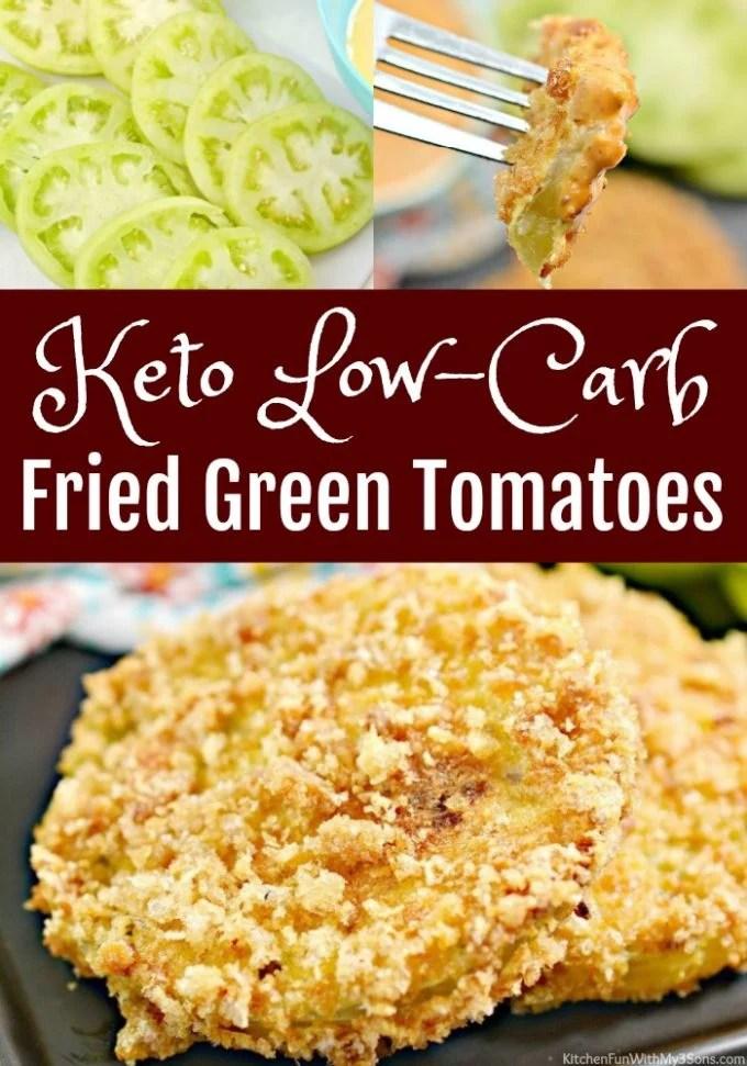 Keto Fried Green Tomatoes