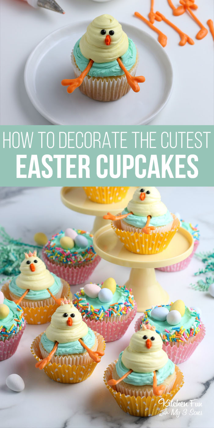 We have the cutest Easter Cupcake Ideas for you today! Take your pick of a bunny, a lamb, a bird's nest, chick or carrot. These are adorable and will wow all of your Easter guests.