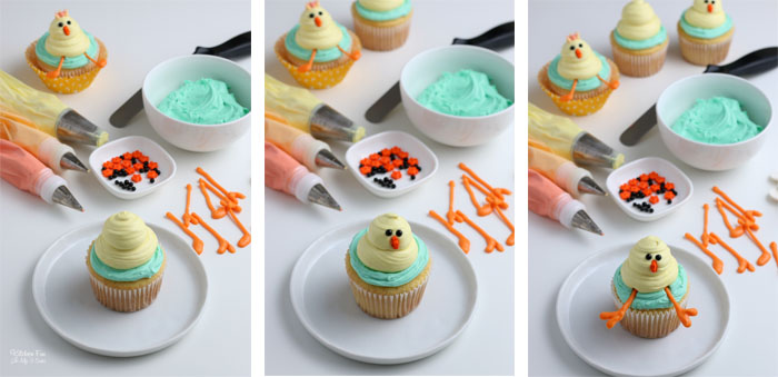 How to Make Easter Chick Cupcakes