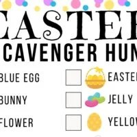 Easter Scanvenger Hunt