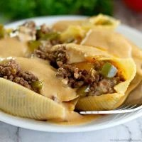 Philly Cheesesteak Stuffed Shells