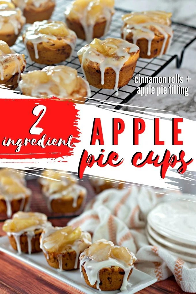 2 Ingredient Apple Pie Cups on Pinterest