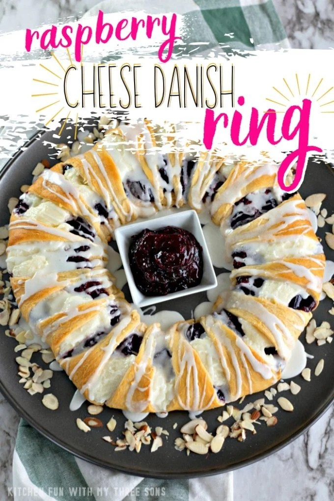 Raspberry Cheese Danish Ring
