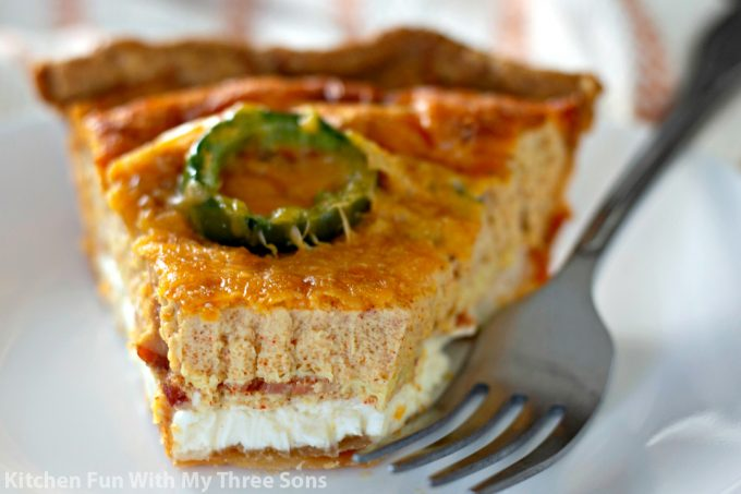 slice of Jalapeño Popper Quiche