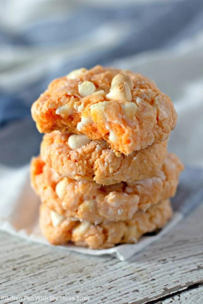 Orange Creamsicle Cake Mix Cookies