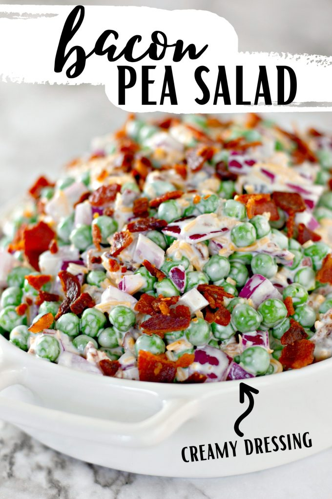 Bacon Pea Salad Recipe on Pinterest