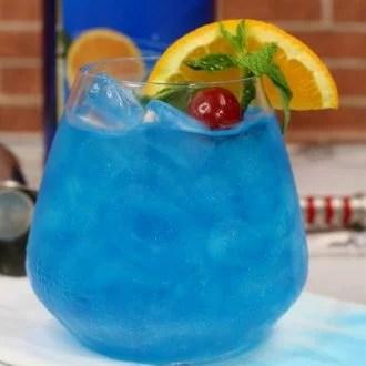 blue shoe cocktail