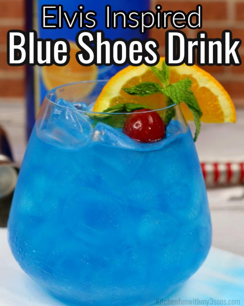blue shoe drink