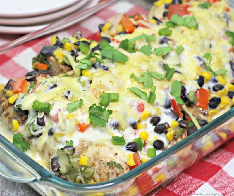 Southwest baked chicken recipe