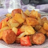 BBQ Air Fryer Sausage and Potatoes