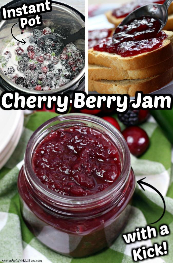 Instant Pot Cherry Berry Jam