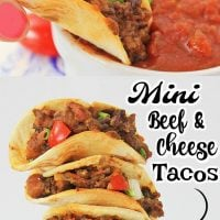 Mini Beef and Cheese Tacos