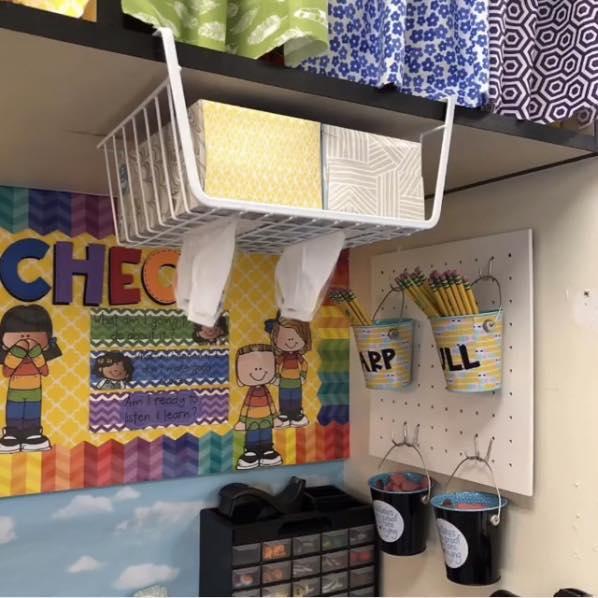 Upside Down Kleenex - Social Distancing Classroom Ideas