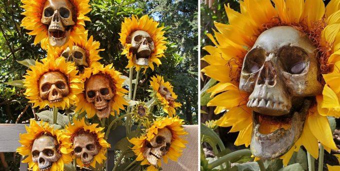 Sunflower Skulls