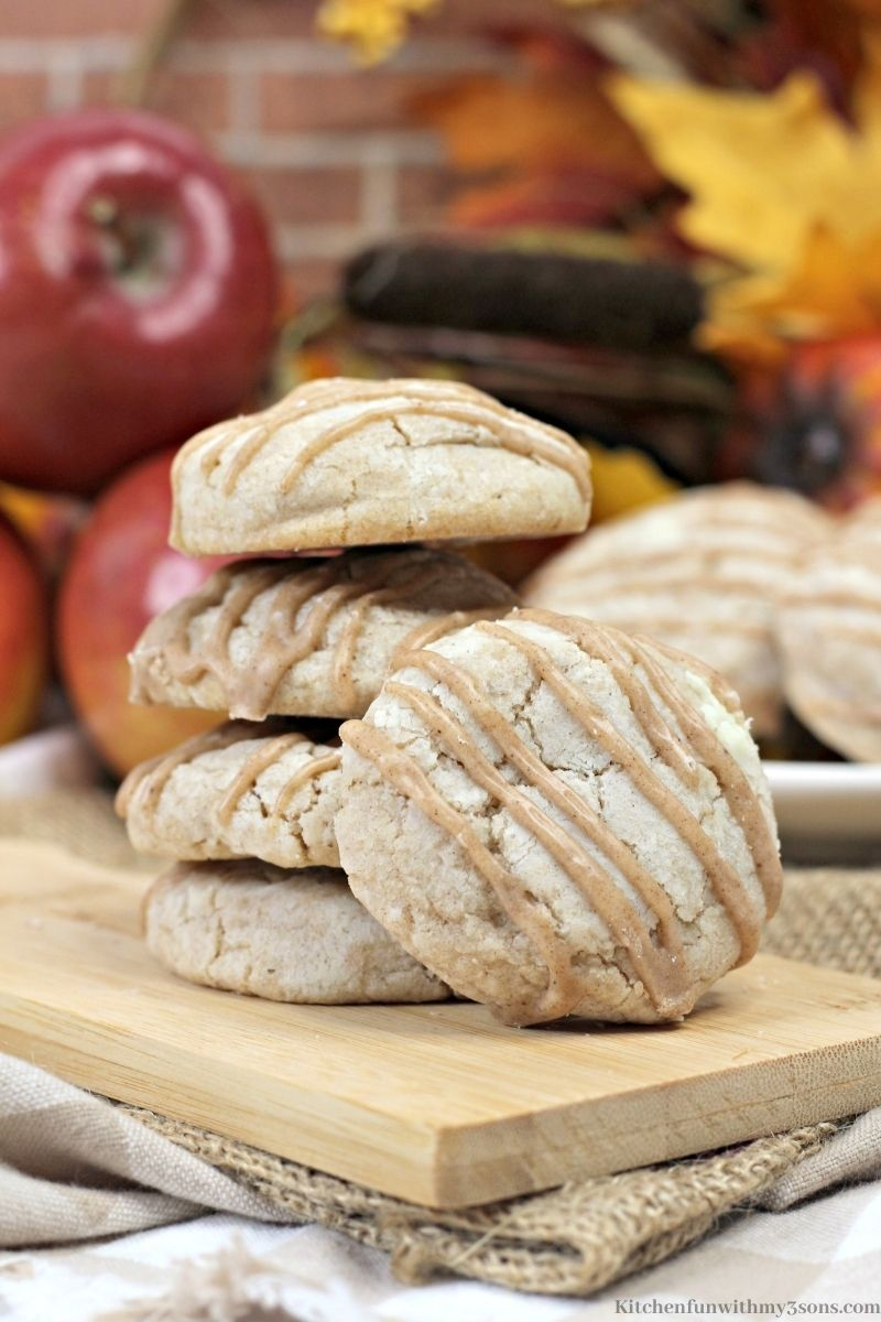 A picture of Apple Pie Cookies with Spiced Glaze