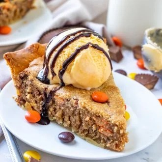 Reese's Peanut Butter Cookie Pie