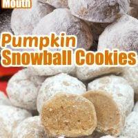 Pumpkin Snowball Cookies
