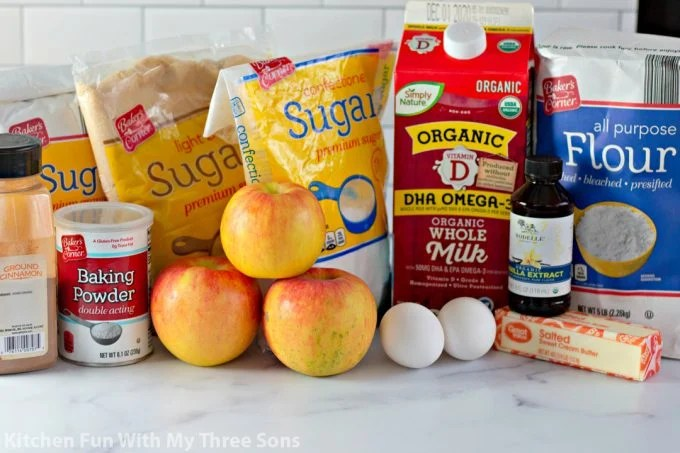 ingredients to make Amish Apple Fritter Bread