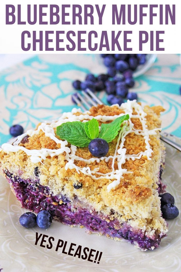 Blueberry Muffin Cheesecake Pie