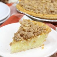 Buttermilk Pie with Walnut Streusel