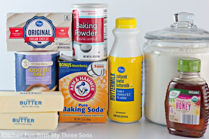 ingredients to make Honey Butter Biscuits