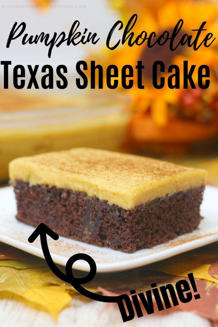 Pumpkin Chocolate Sheet Cake