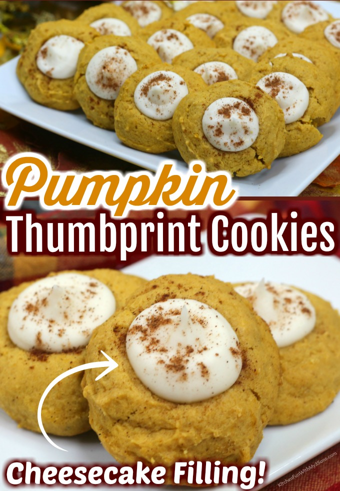 Pumpkin Thumbprint Cookies with Cream Cheese Filling
