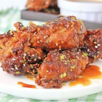 Air Fryer Korean BBQ Chicken Wings
