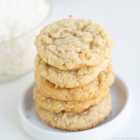 Easy Coconut Cookies (Soft and Chewy)