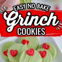 No Bake Grinch Cookies