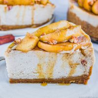 Apple Cinnamon Cheesecake