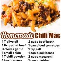 Homemade Chili Mac