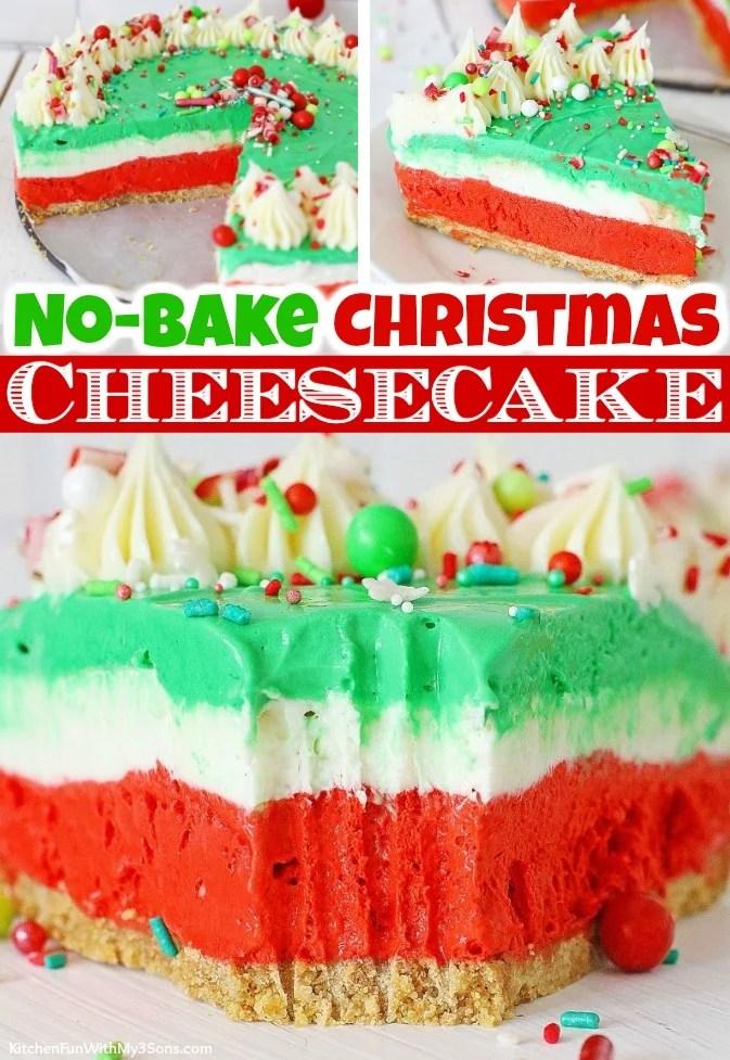 No Bake Christmas Cheesecake