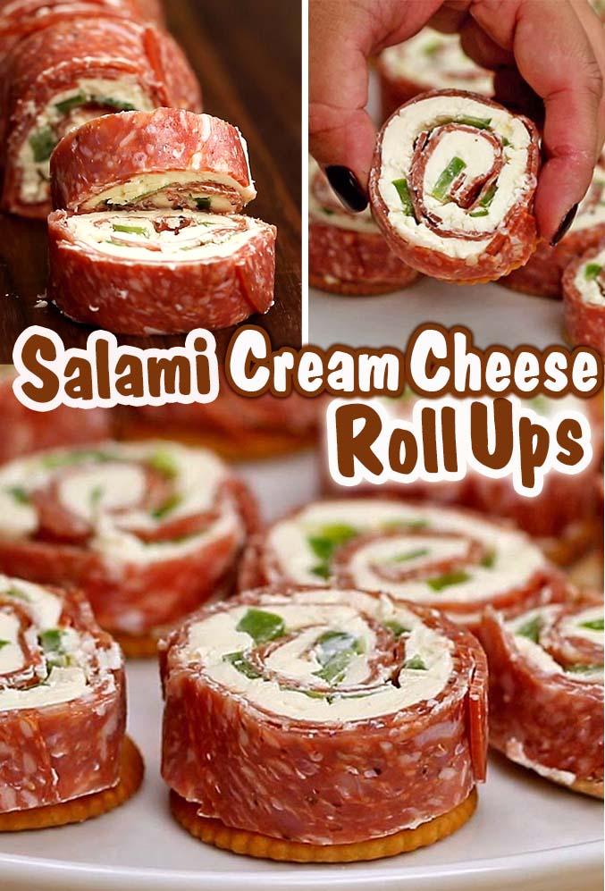 Salami Cream Cheese Roll Ups
