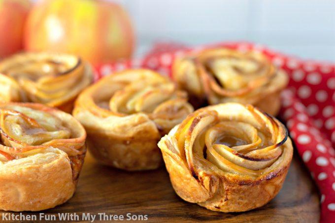 Caramel Apple Rose Tarts